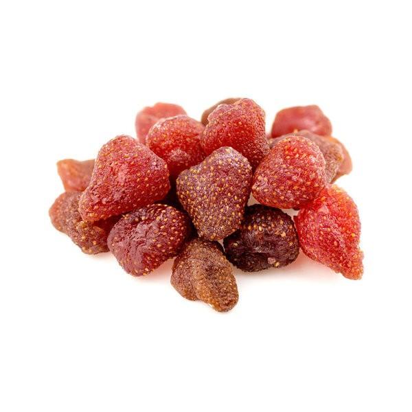 Erdbeeren, getrocknet mit Zucker